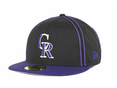 Colorado Rockies MLB Retro Piping 59FIFTY Hats