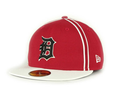 Detroit Tigers MLB Retro Piping 59FIFTY Hats