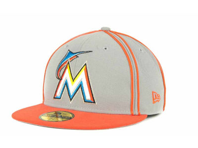 Miami Marlins MLB Retro Piping 59FIFTY Hats