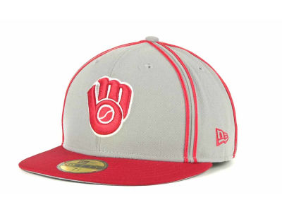 Milwaukee Brewers MLB Retro Piping 59FIFTY Hats