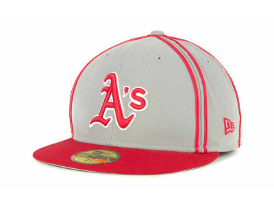 Oakland Athletics MLB Retro Piping 59FIFTY Hats