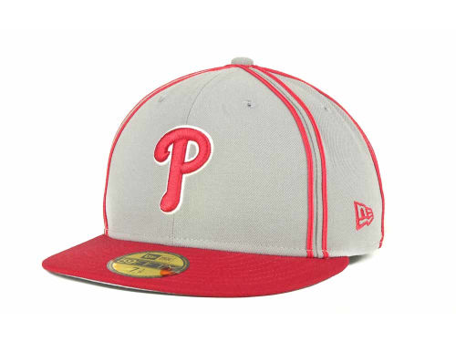 Philadelphia Phillies New Era MLB Retro Piping 59FIFTY Hats