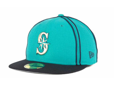 Seattle Mariners MLB Retro Piping 59FIFTY Hats