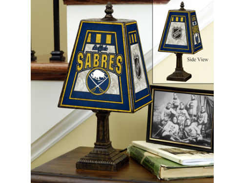 Buffalo Sabres Art Glass Table Lamp