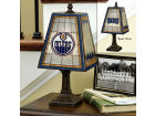Edmonton Oilers Art Glass Table Lamp Bed & Bath