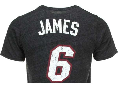 Miami Heat Lebron James NBA Triblend  Vintage Player T-Shirt