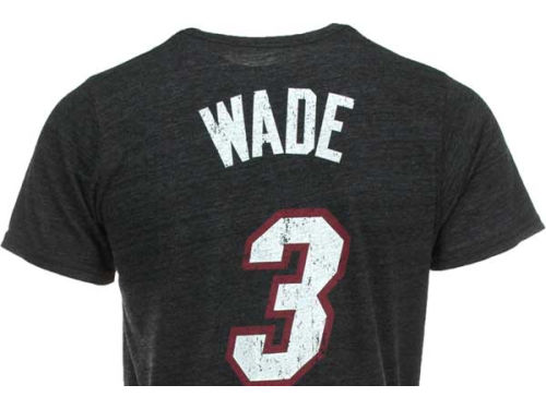 Miami Heat Dwyane Wade NBA Triblend  Vintage Player T-Shirt