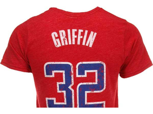 Los Angeles Clippers Blake Griffin Majestic NBA Triblend  Vintage Player T-Shirt