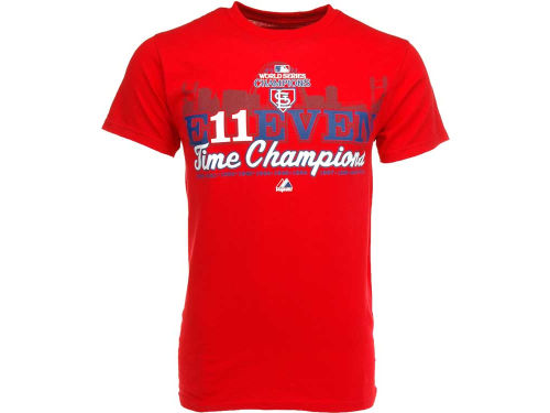 St. Louis Cardinals Majestic MLB 11 Time Champ T-Shirt