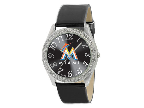Miami Marlins Game Time Pro Glitz Ladies Watch