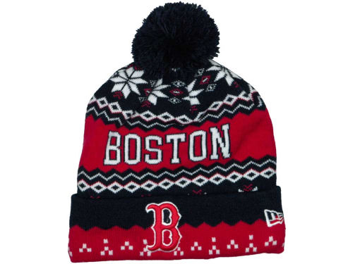 Boston Red Sox New Era MLB Weather Advisory Knit Hats