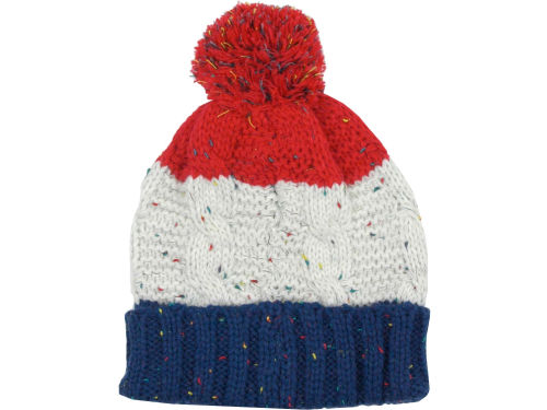 LIDS Private Label PL Flecked Cuffed Knit With Pom Hats