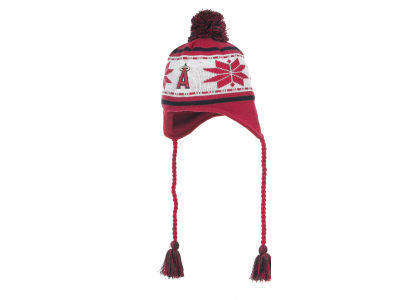 Los Angeles Angels of Anaheim MLB Jr Striped Snowflake Knit Hats