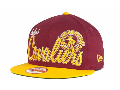 Cleveland Cavaliers New Era NBA Hardwood Classic Full Court Snapback Cap Hats