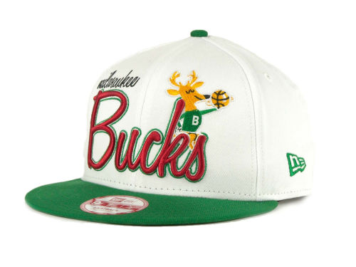 Milwaukee Bucks New Era NBA Hardwood Classic Full Court Snapback Cap Hats