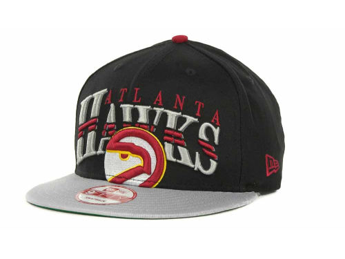 Atlanta Hawks New Era NBA Hardwood Classics Double Line 9FIFTY Snapback Cap Hats