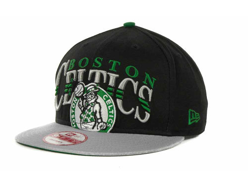 Boston Celtics New Era NBA Hardwood Classics Double Line 9FIFTY Snapback Cap Hats