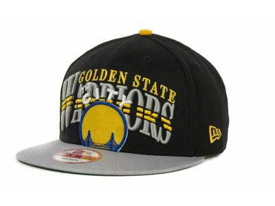 Golden State Warriors NBA Hardwood Classics Double Line 9FIFTY Snapback Cap Hats