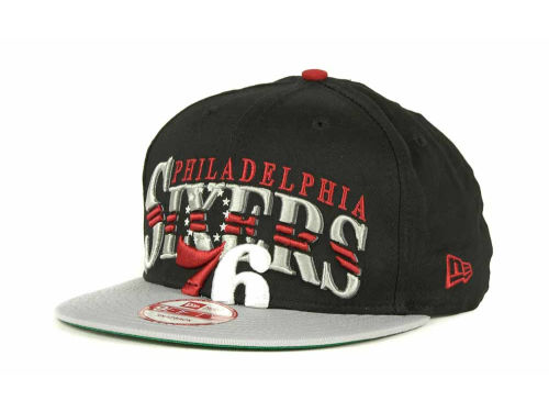 Philadelphia 76ers New Era NBA Hardwood Classics Double Line 9FIFTY Snapback Cap Hats