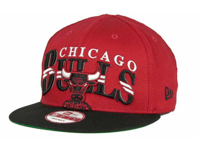 Chicago Bulls NBA Hardwood Classics Double Line 9FIFTY Snapback Cap Hats