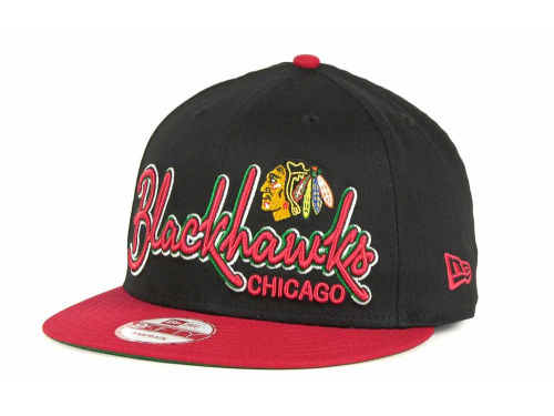 Chicago Blackhawks New Era 9FIFTY NHL Goal Line Snapback Cap Hats