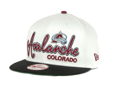 Colorado Avalanche 9FIFTY NHL Goal Line Snapback Cap Hats