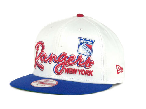New York Rangers New Era 9FIFTY NHL Goal Line Snapback Cap Hats