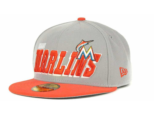 Miami Marlins New Era MLB Fit It Back 59FIFTY Cap Hats
