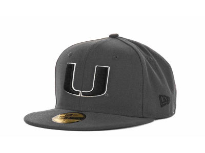 Miami Hurricanes 59FIFTY NCAA Graph BG Cap Hats