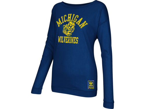 Michigan Wolverines adidas NCAA Womens Her Homecoming Slouchy Long Sleeve T-Shirt