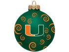 Miami Hurricanes Team Color Swirl Ornament 3