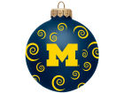 Michigan Wolverines Team Color Swirl Ornament 3