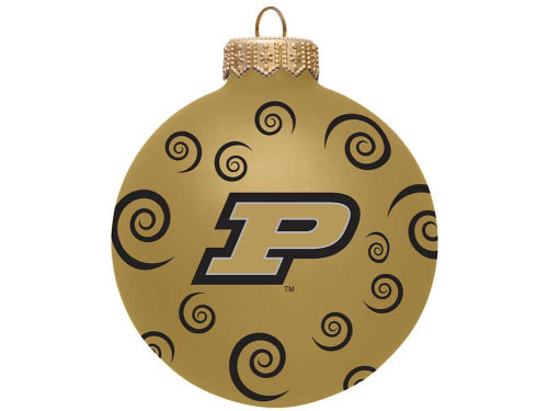 Purdue Boilermakers Team Color Swirl Ornament 3