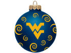 West Virginia Mountaineers Team Color Swirl Ornament 3