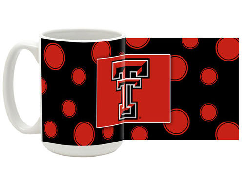 Texas Tech Red Raiders 15 oz Polka Dot Mug