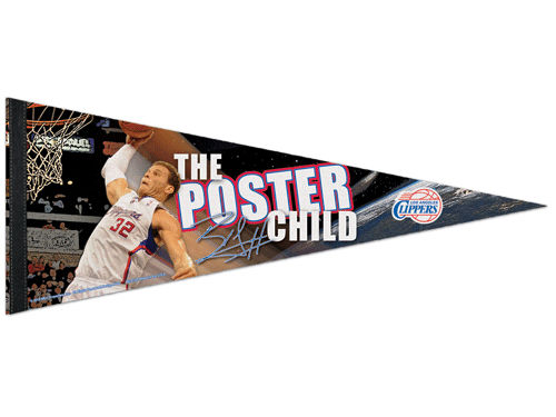 Los Angeles Clippers Griffin Wincraft 12x30 Premium Player Pennant
