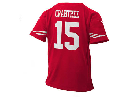 San Francisco 49ers CRABTREE Outerstuff NFL Kids Game Jersey