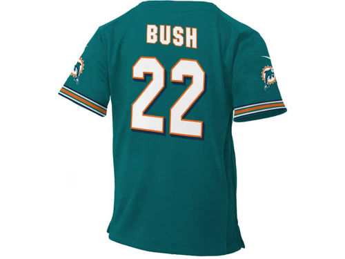 Miami Dolphins BUSH Outerstuff NFL Kids Game Jersey