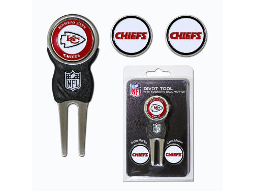 Kansas City Chiefs Team Golf Divot Tool and Markers