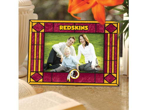 Washington Redskins Art Glass Picture Frame