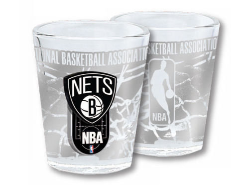 Brooklyn Nets 3D Wrap Collector Glass