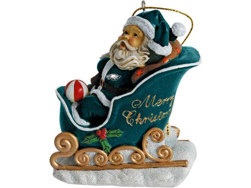 Philadelphia Eagles Santa Sleigh Ornament