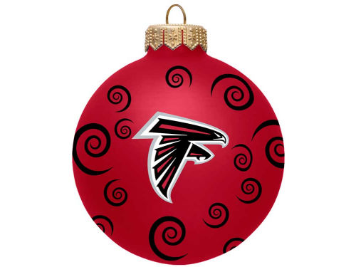 Atlanta Falcons Team Color Swirl Ornament 3