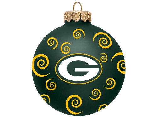 Green Bay Packers Team Color Swirl Ornament 3