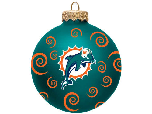 Miami Dolphins Team Color Swirl Ornament 3
