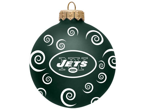 New York Jets Team Color Swirl Ornament 3