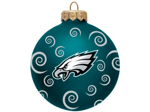 Philadelphia Eagles Team Color Swirl Ornament 3
