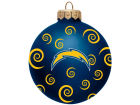 San Diego Chargers Team Color Swirl Ornament 3