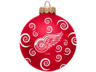 Detroit Red Wings Team Color Swirl Ornament 3