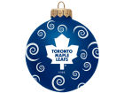 Toronto Maple Leafs Team Color Swirl Ornament 3